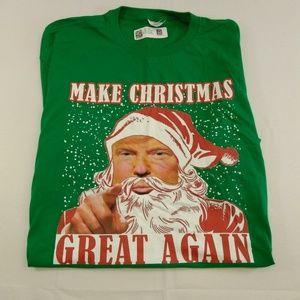 Anvil Trump Make Christmas Great Again XXL TShirt